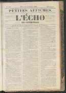 L'echo De Courtrai 1849-10-14
