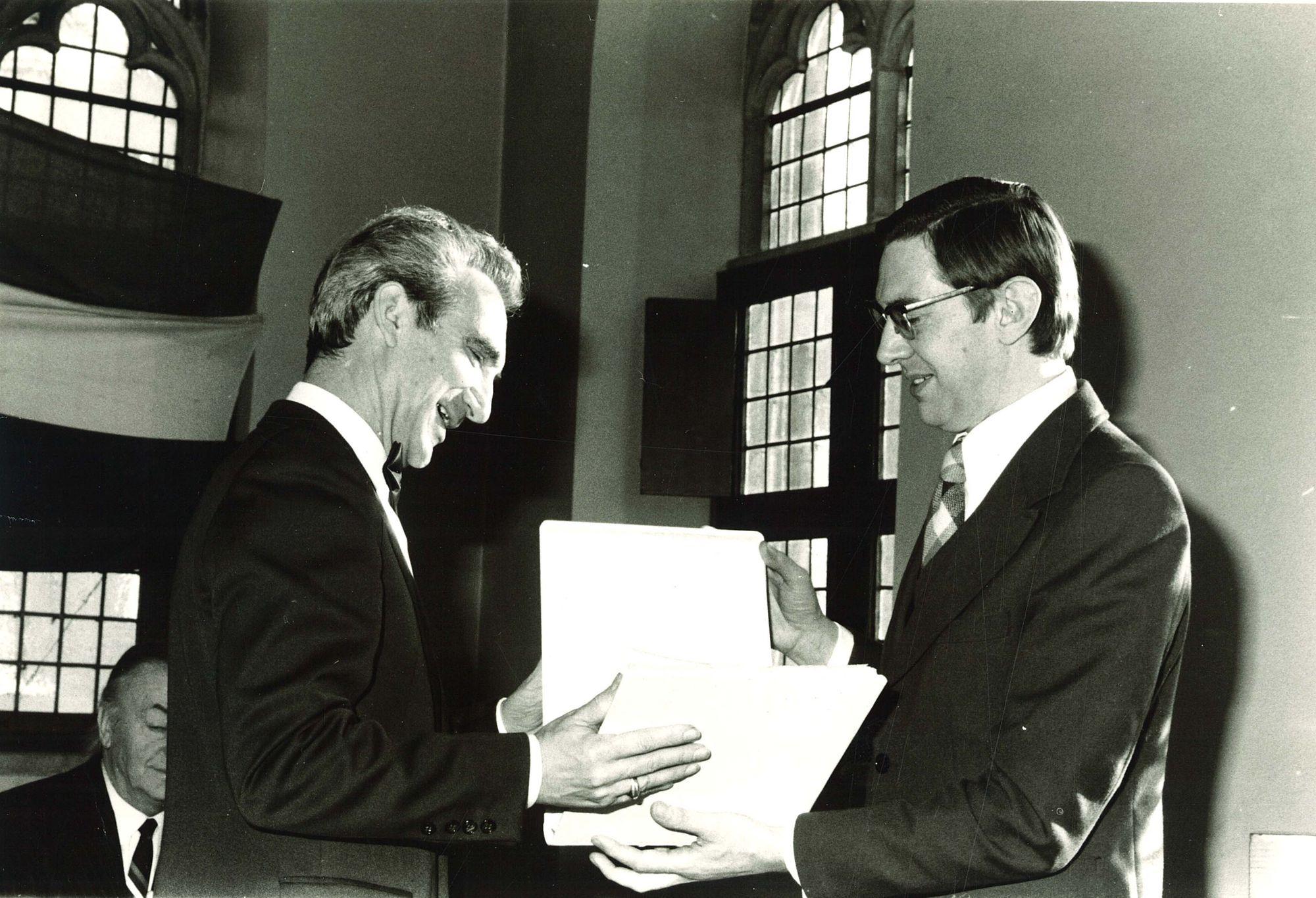 Uitreiking 6de André Demedtsprijs 1975