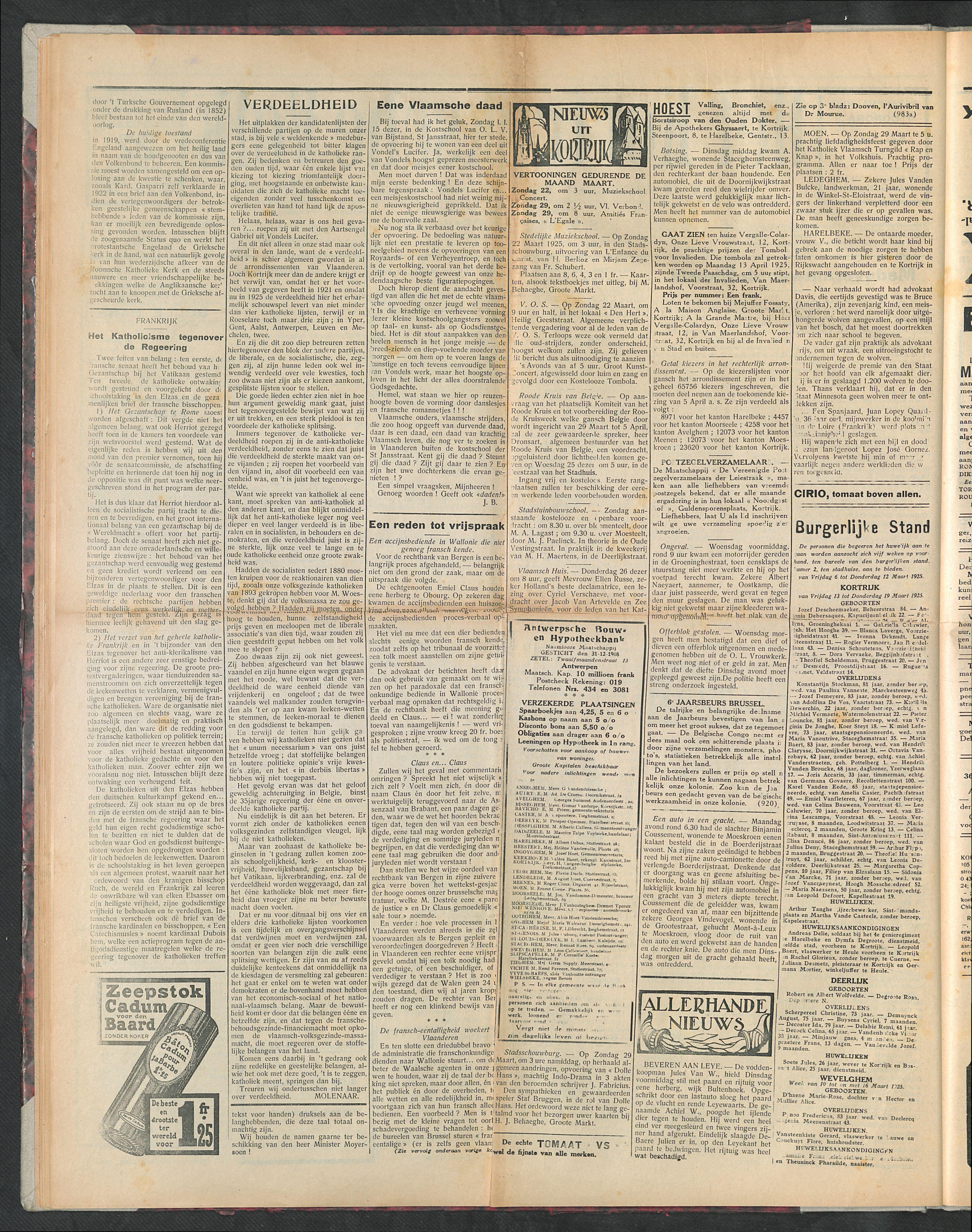Het Kortrijksche Volk 1925-03-22 p2