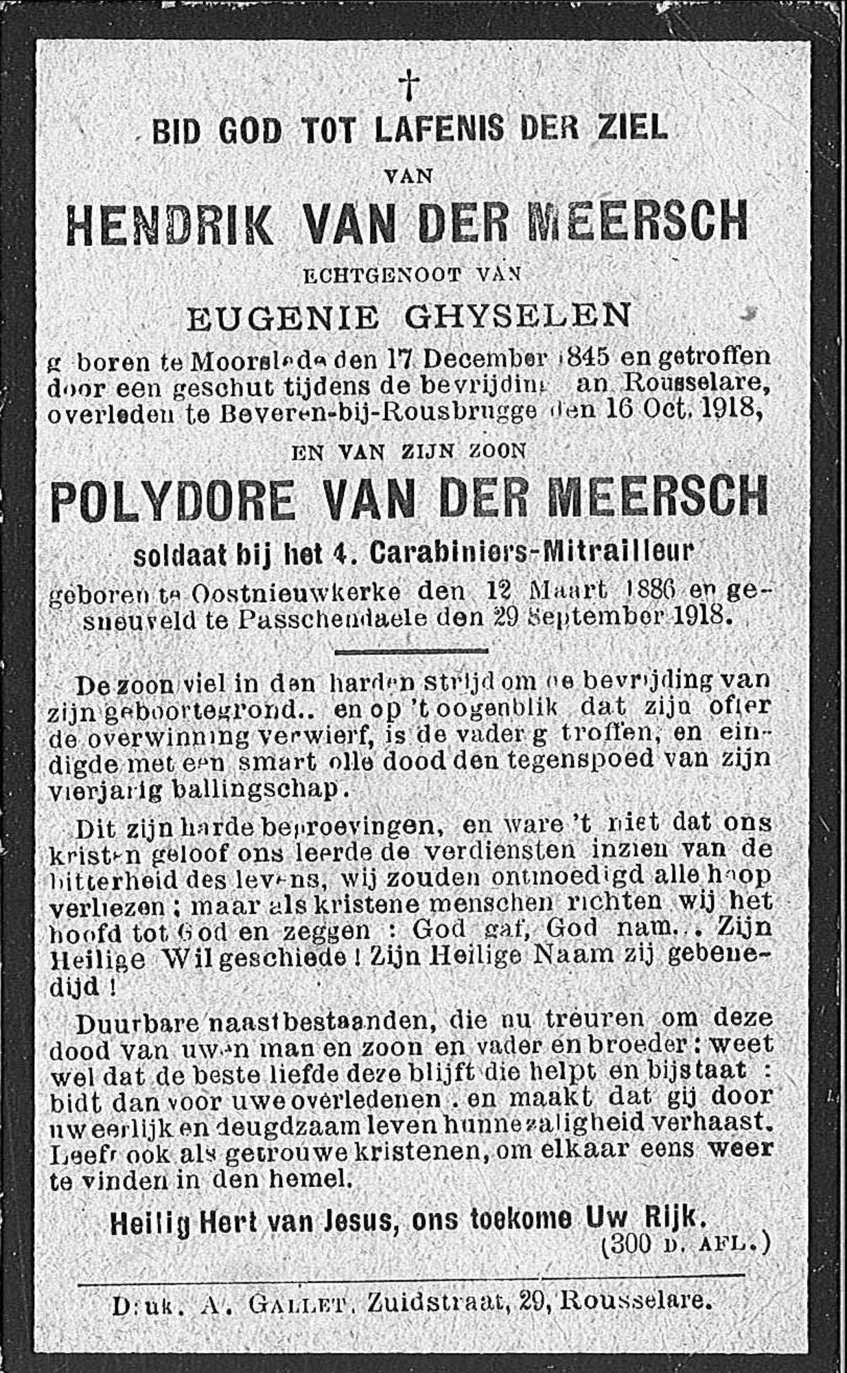 Hendrik Van Der Meersch