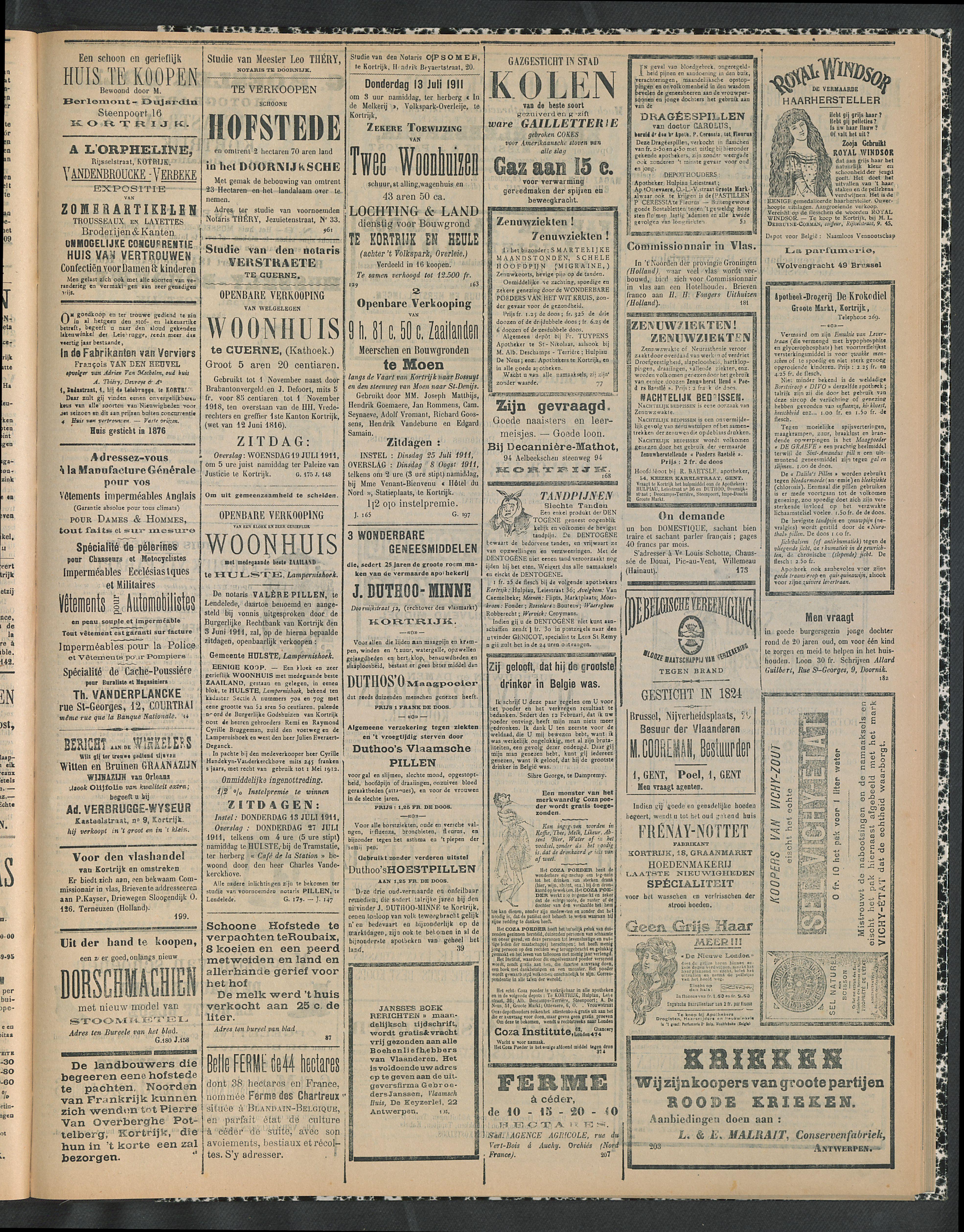 Gazette Van Kortrijk 1911-07-13 p3