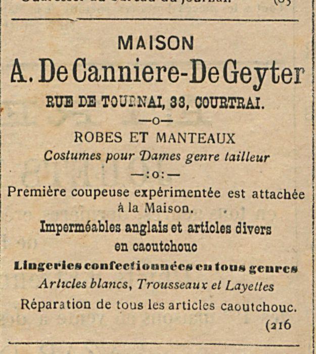 A De Canniere-De Geyter