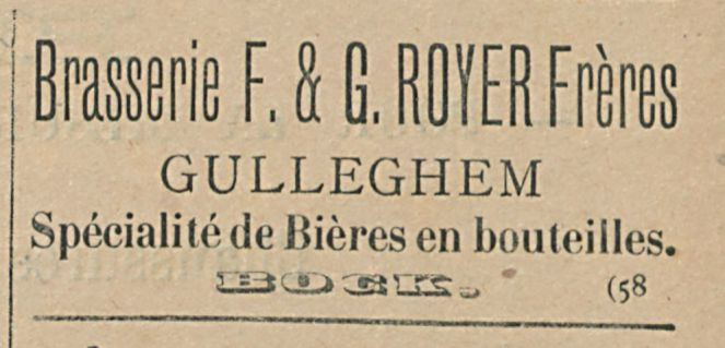 Brasserie F. a G. ROYER Freres