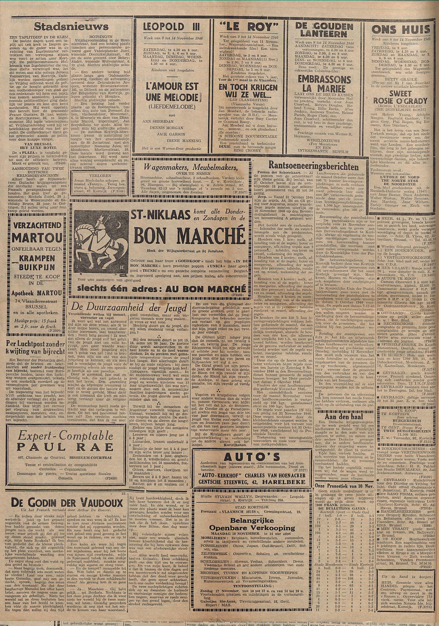 Kortrijksch Handelsblad 13 november 1946 Nr91 p2