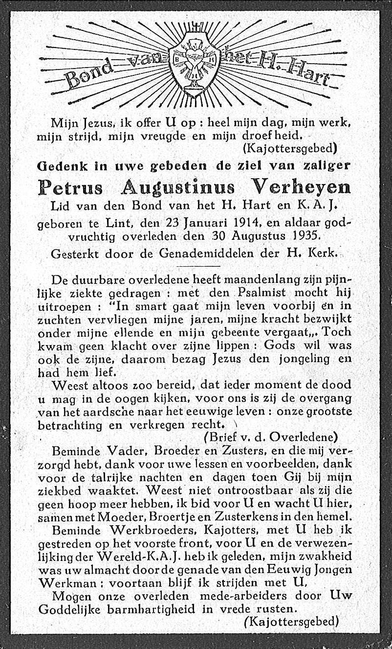 Petrus Augustinus Verheyen