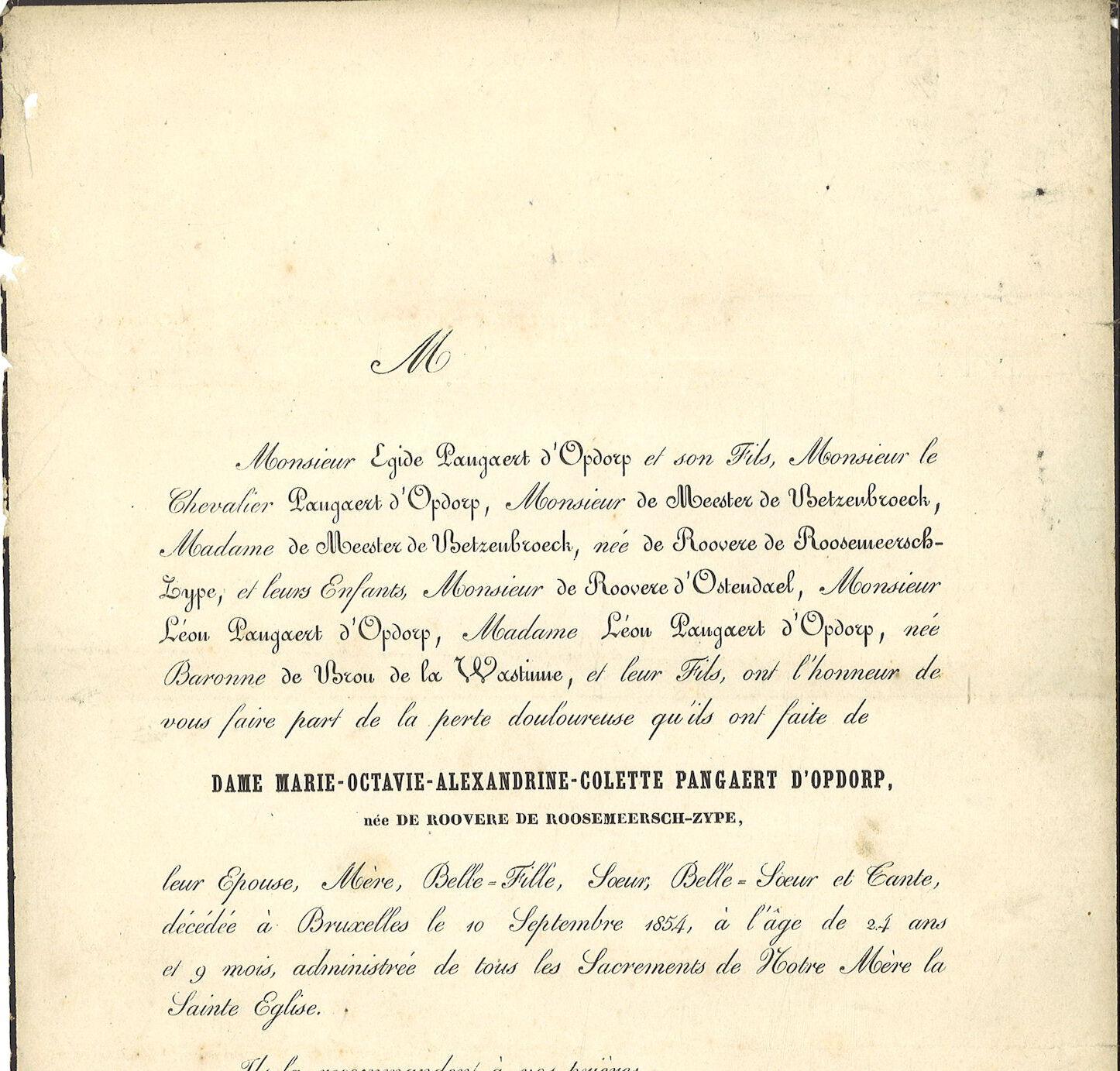 Marie-Octavie-Alexandrine-Colette de Roovere de Roosemeersch-Zype