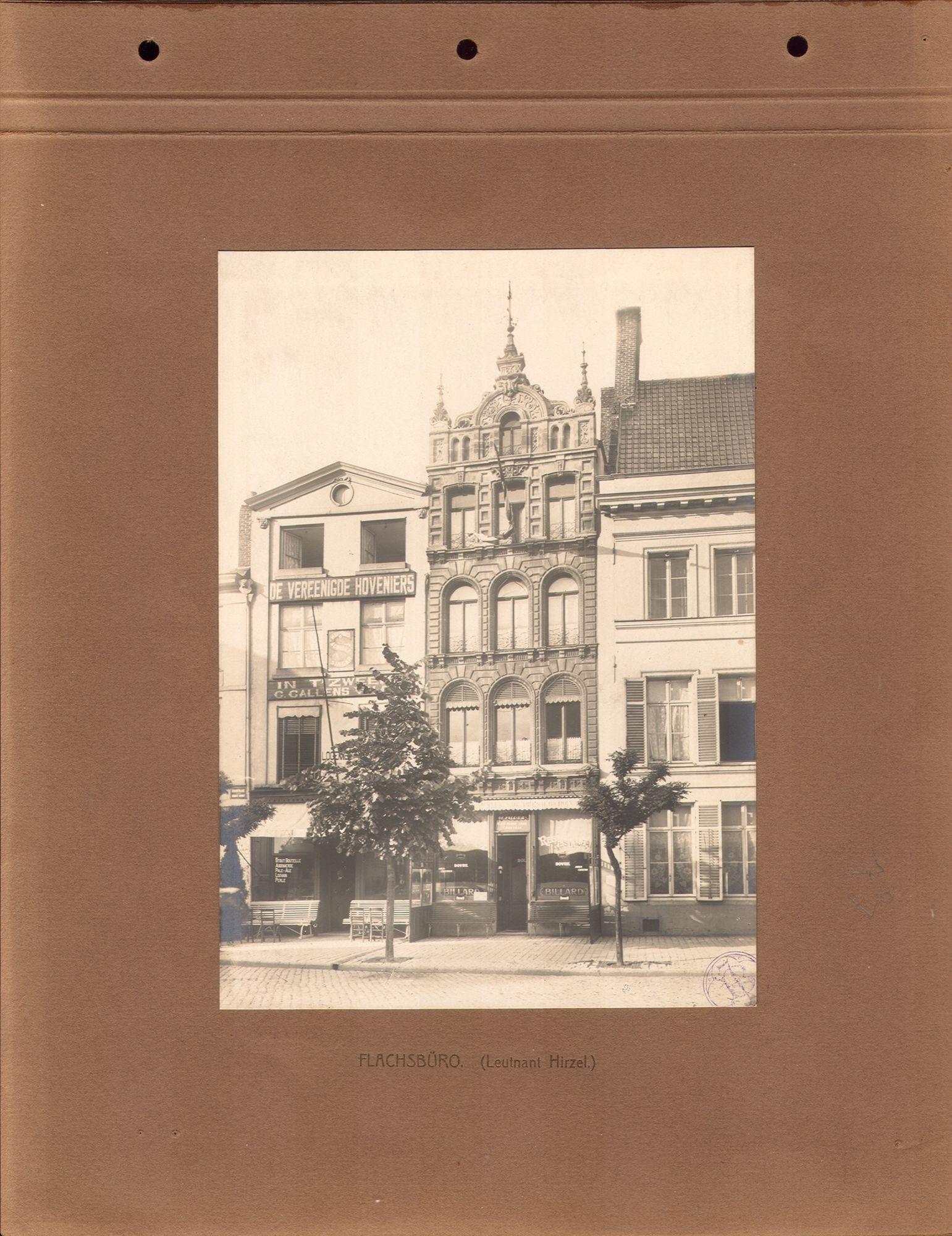 Vlasbureau tijdens Wereldoorlog I