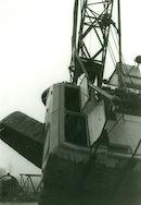 Baggerkraan (Dragline) van Jan De Nul in kanaal Bossuit-Kortrijk1981