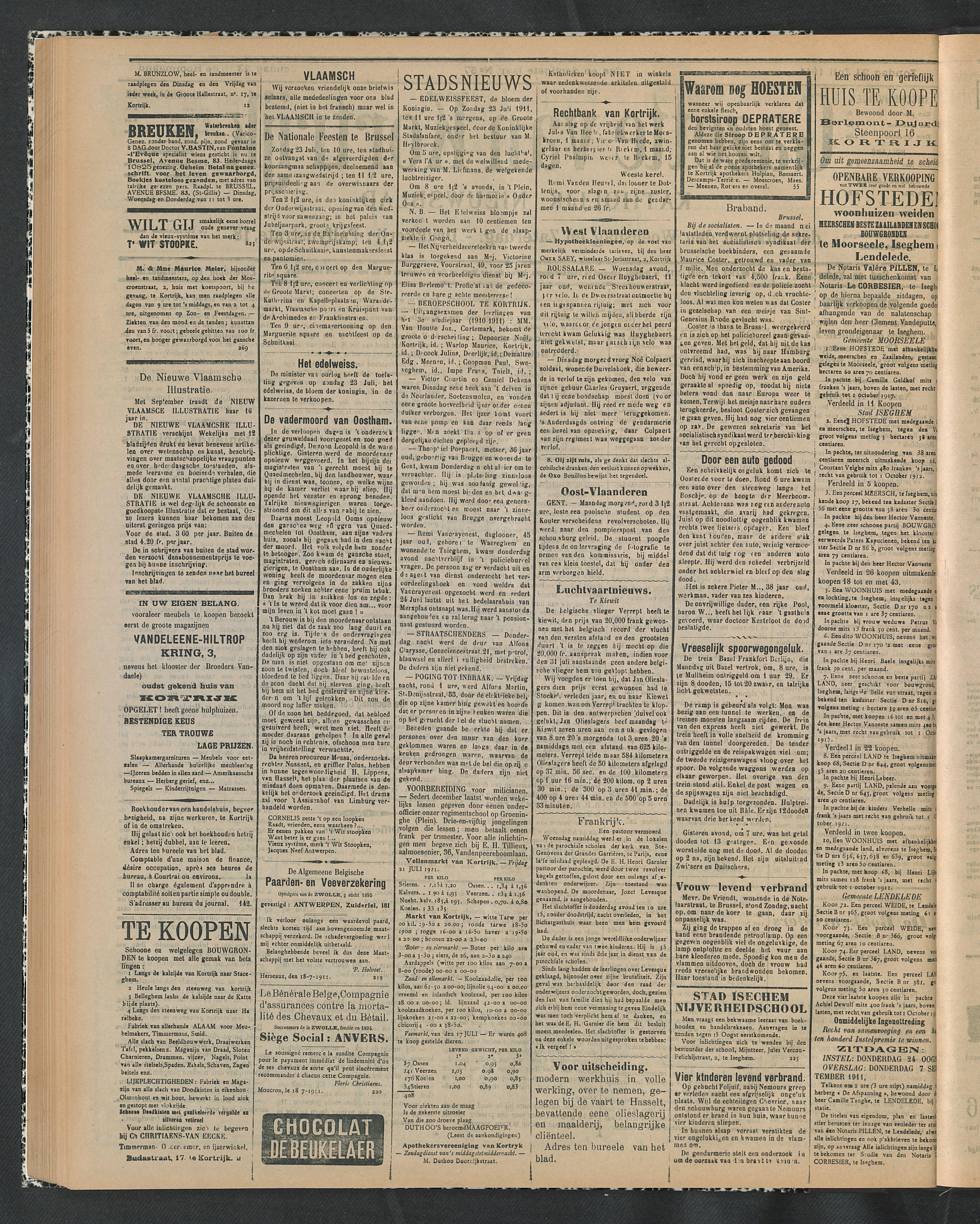 Gazette Van Kortrijk 1911-07-23 p2