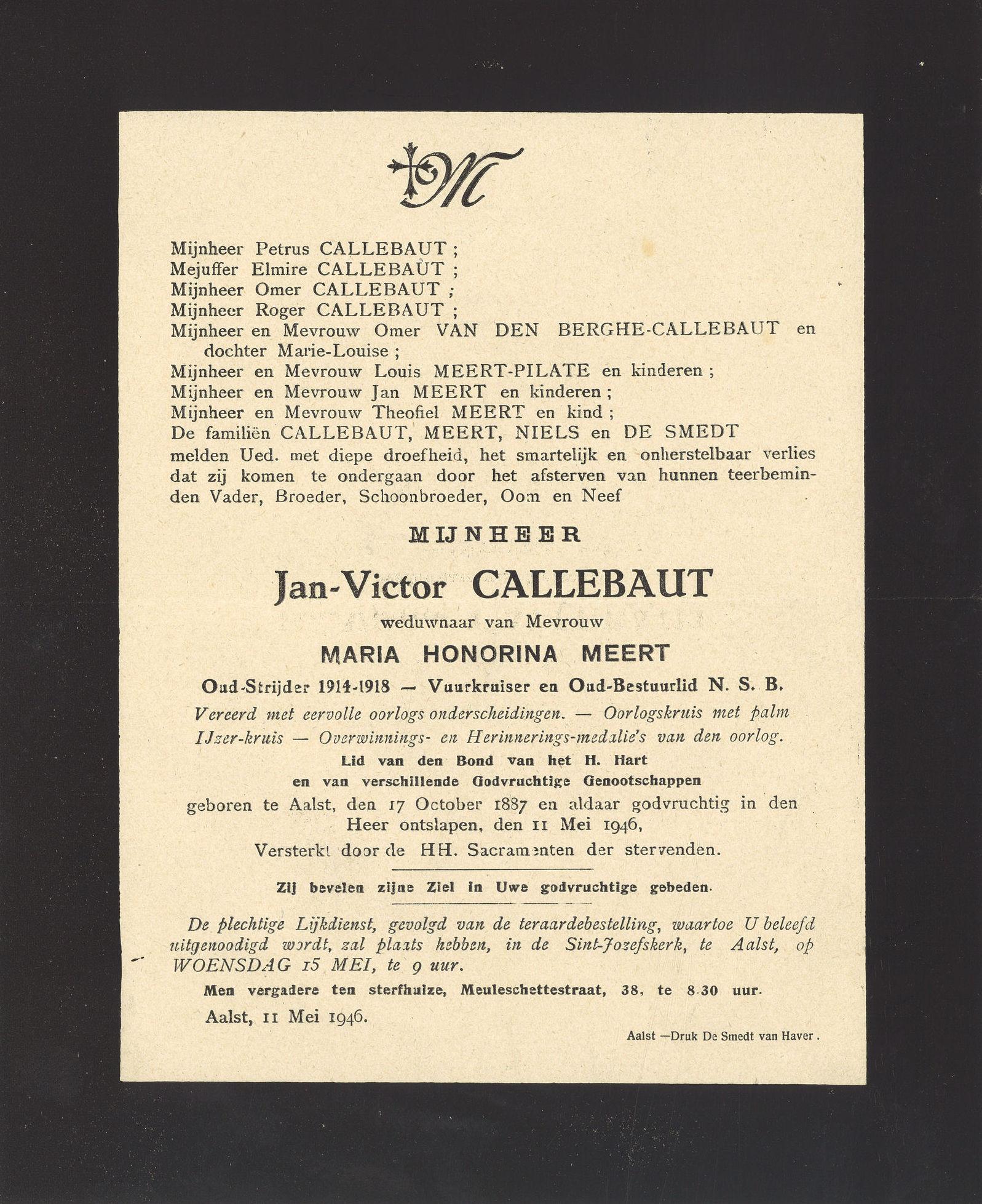 Callebaut Jan-Victor