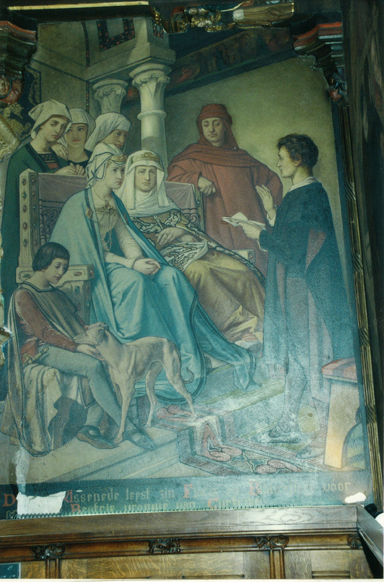 Schilderij in de schepenzaal van het Stadhuis te Kortrijk