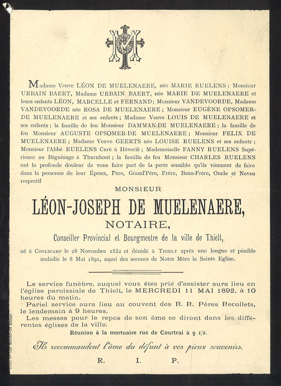 Léon-Joseph De Muelenaere