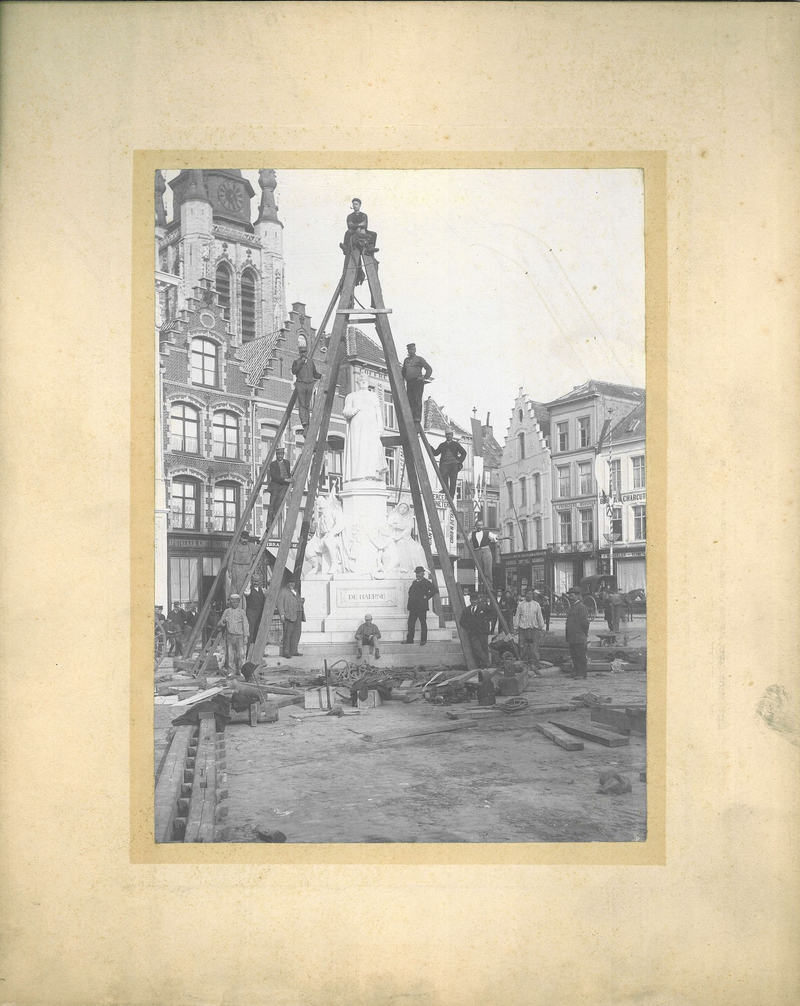 Inhuldiging monument de Haerne in 1895