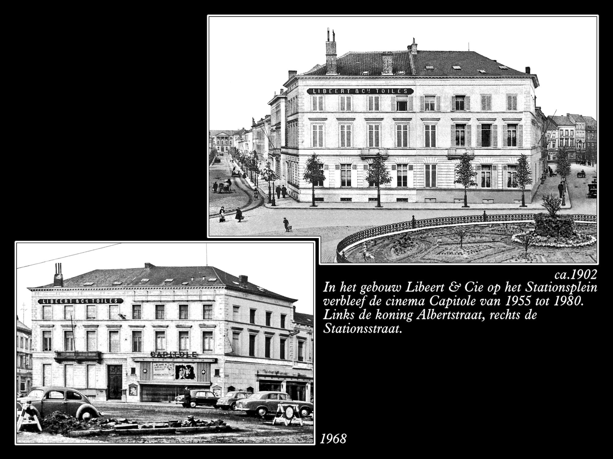 Stationsplein ca 1902 en 1968