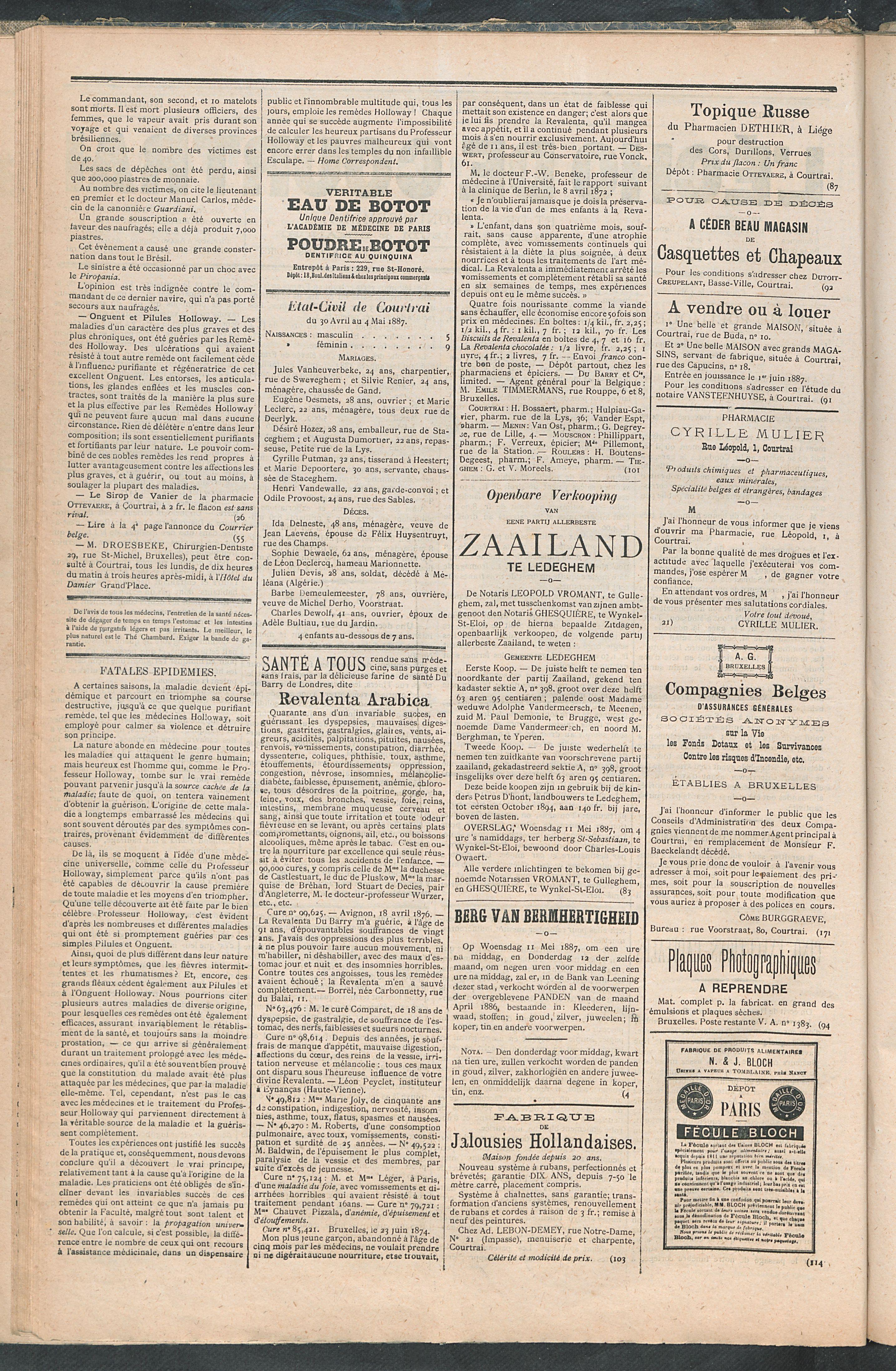 L'echo De Courtrai 1887-05-05 p2