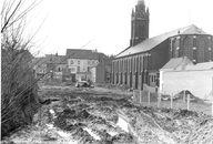 Aanleg parking rond Sint-Rochus 1969