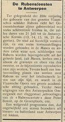De Rubensfeesten te Antwerpen