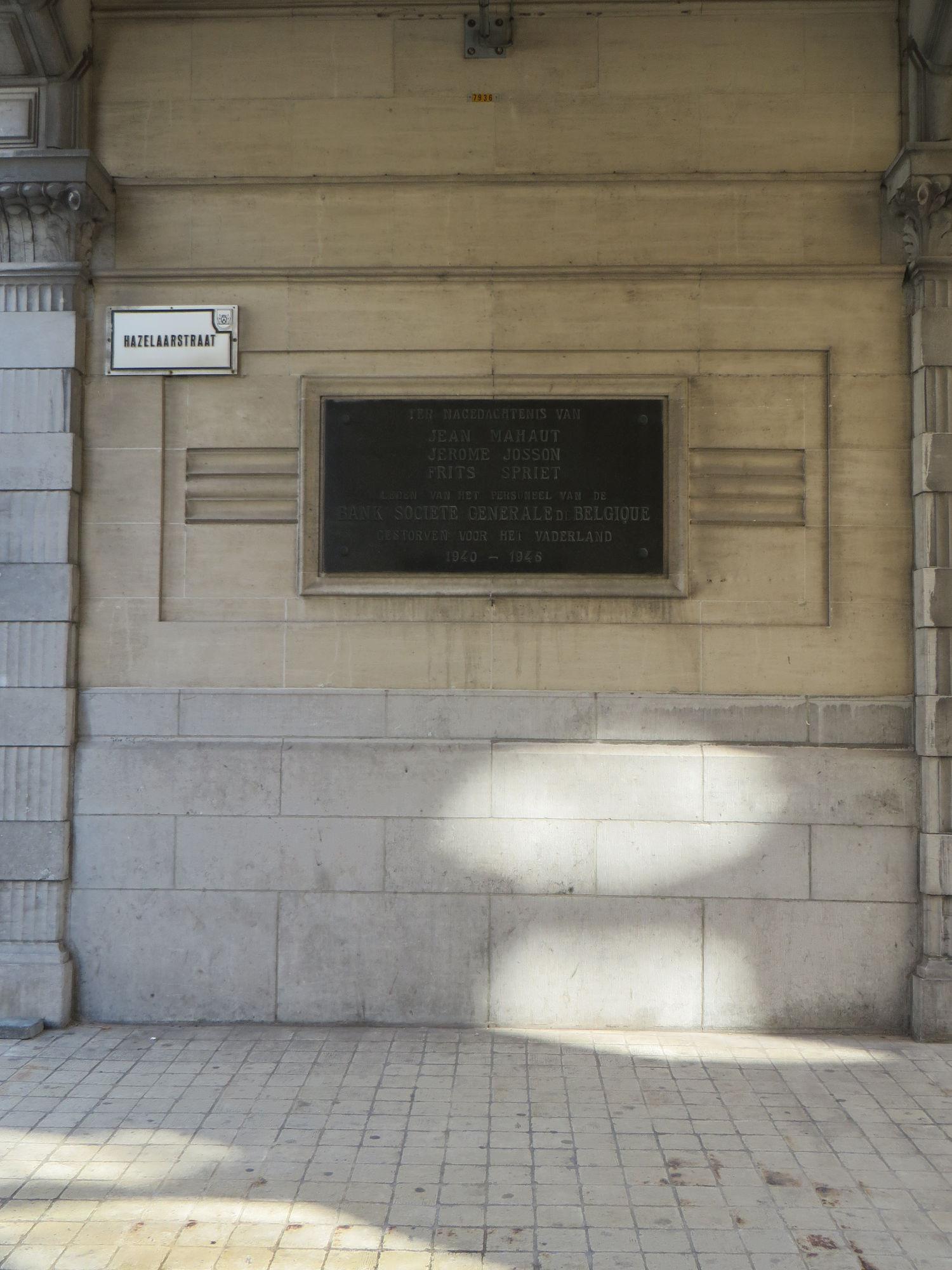 Gedenksteen Bank van Kortrijk