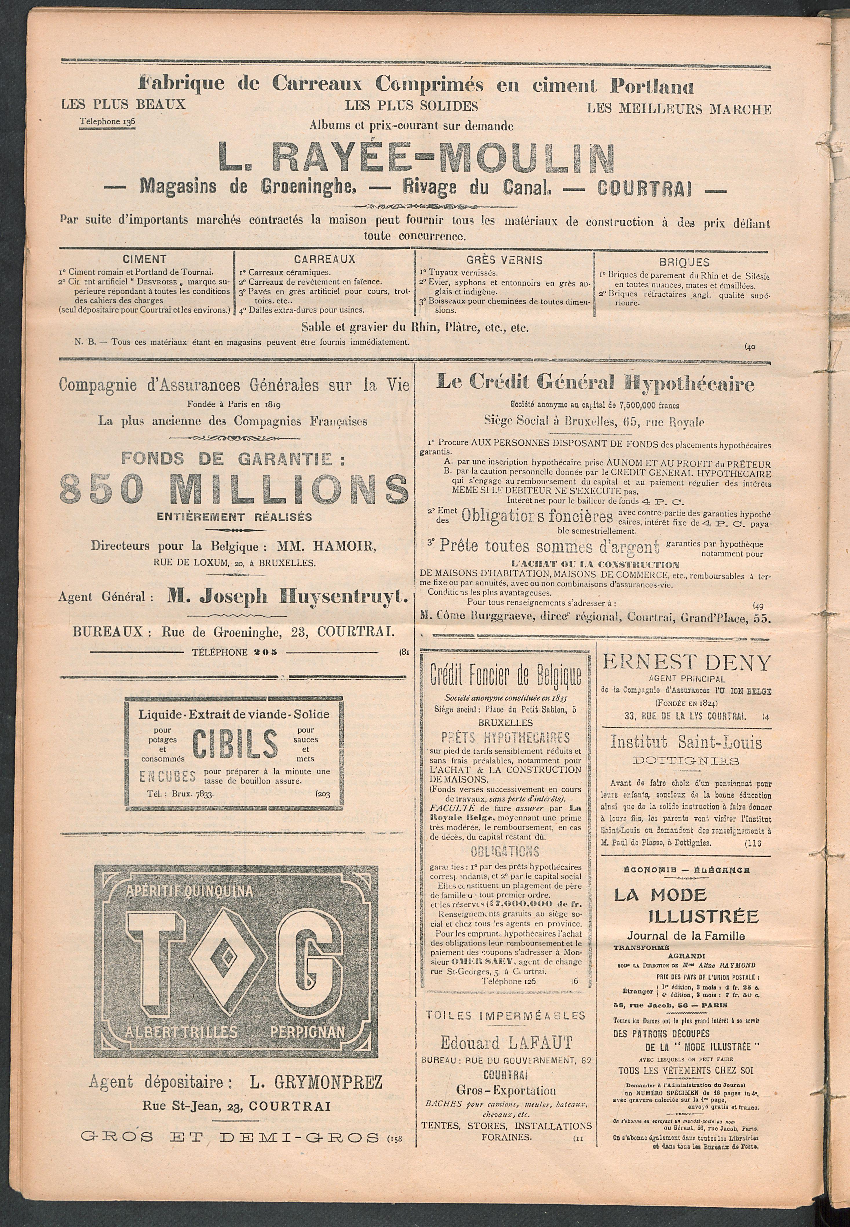 L'echo De Courtrai 1910-02-03 p4