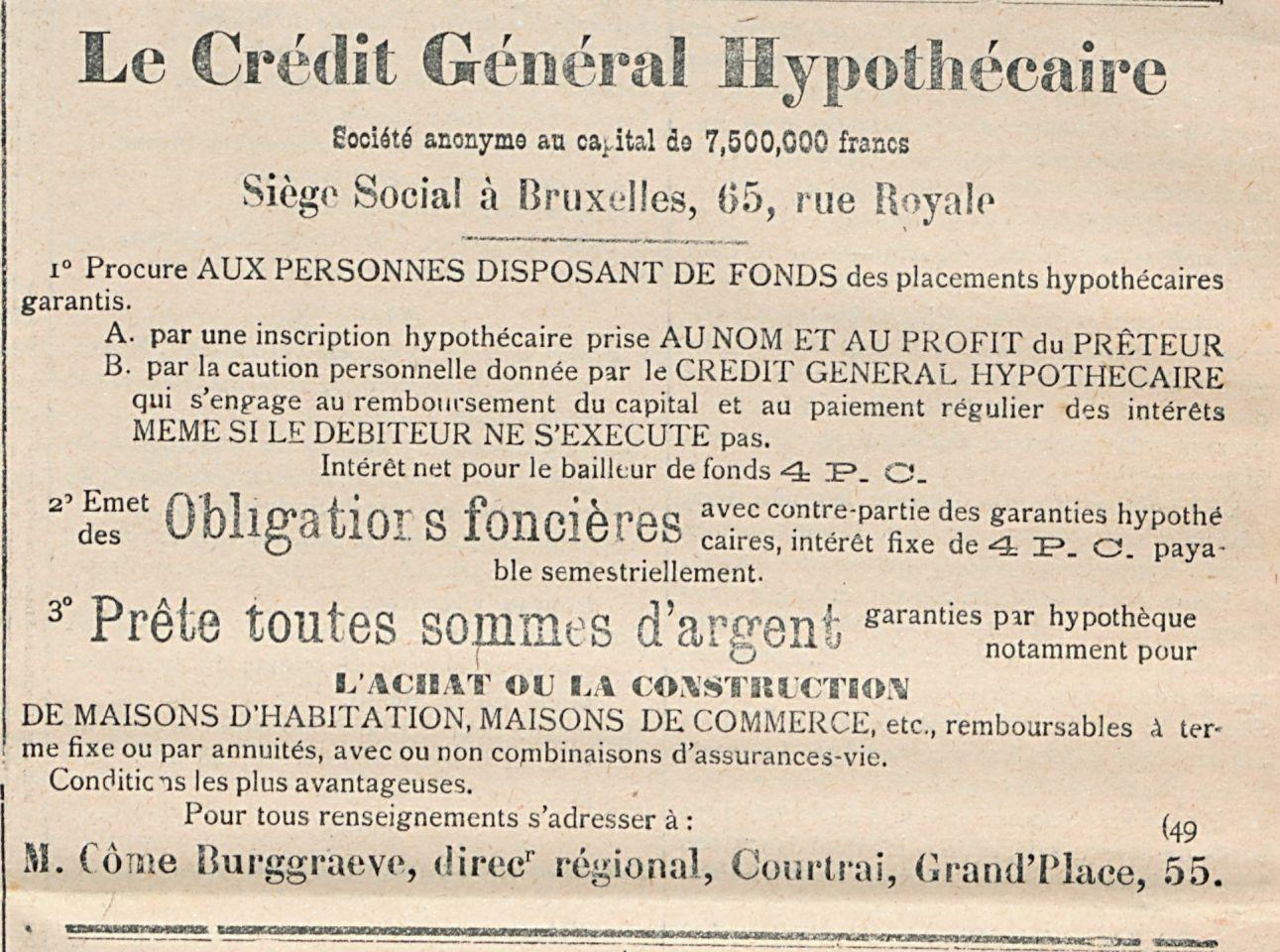 Le Credit General Hypothecaire