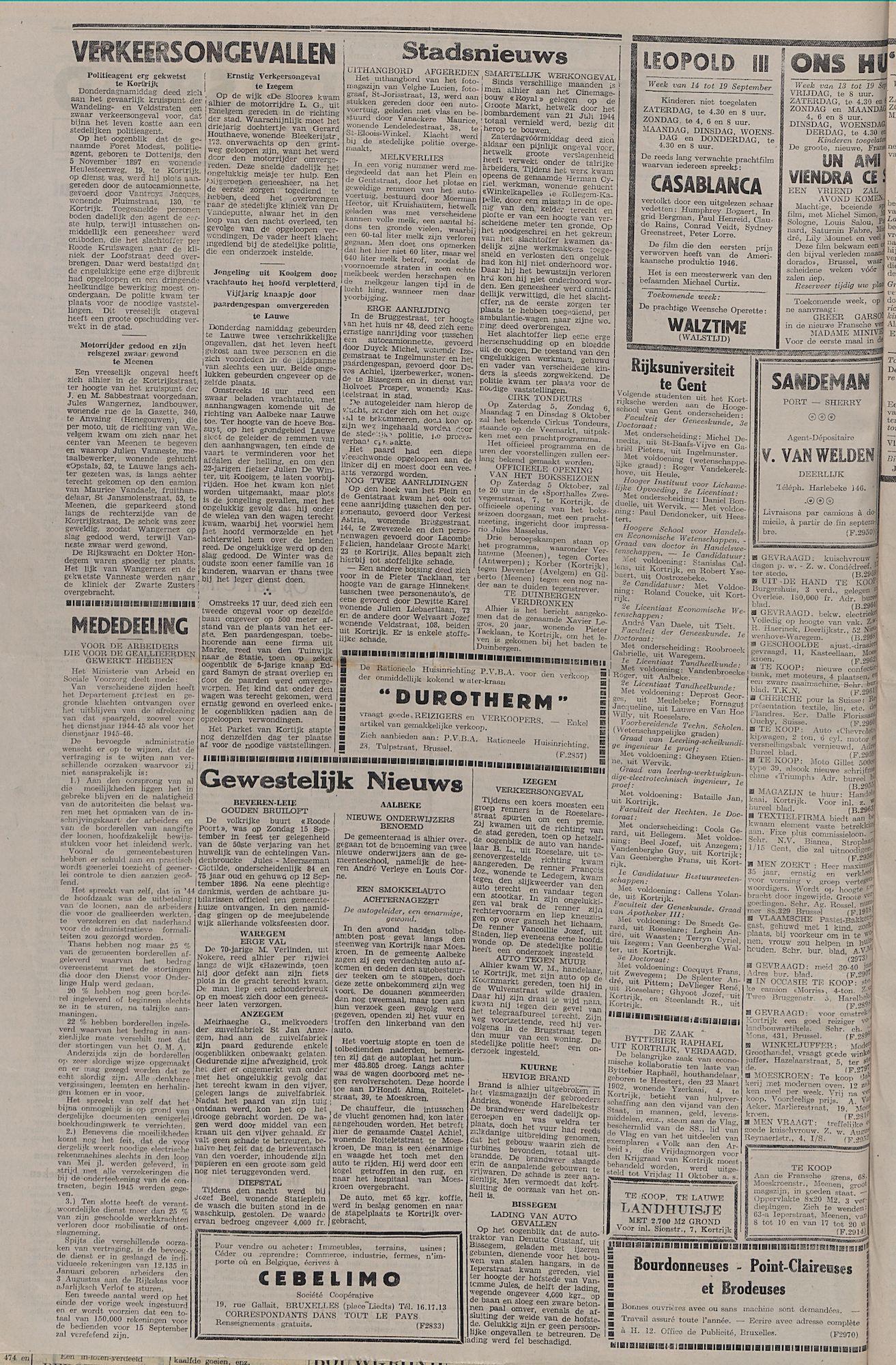 Kortrijksch Handelsblad 17 september 1946 Nr75 p2
