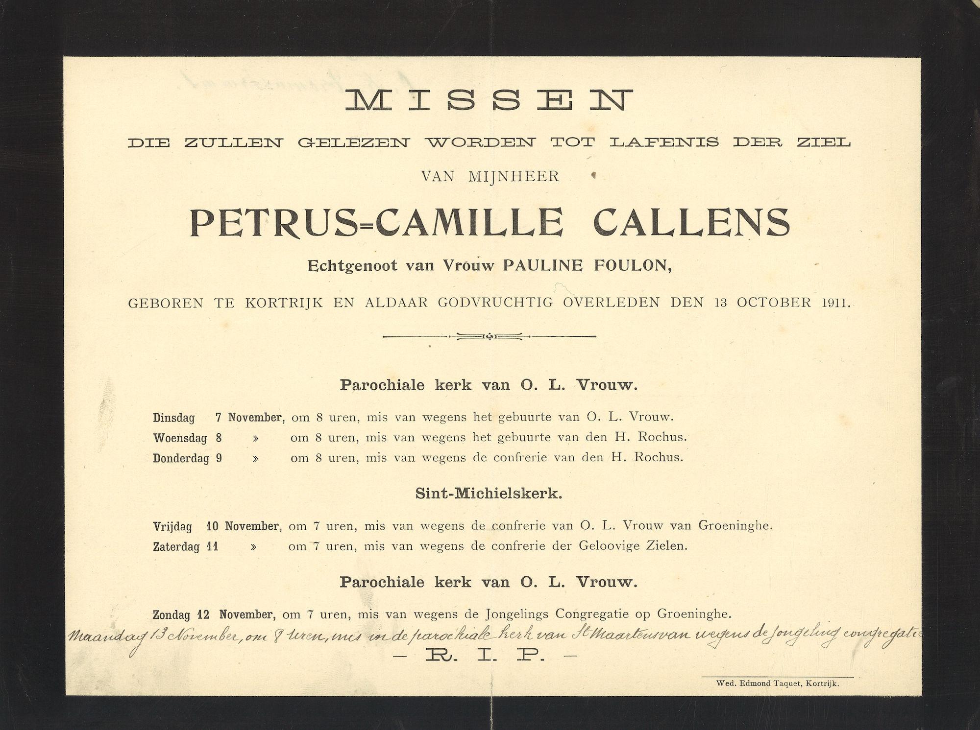 Callens Petrus-Camille