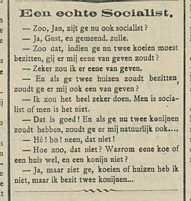 Een eohte Socialist