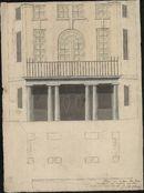 Bouwplan van een huis in empirestijl te Kortrijk, 1821.