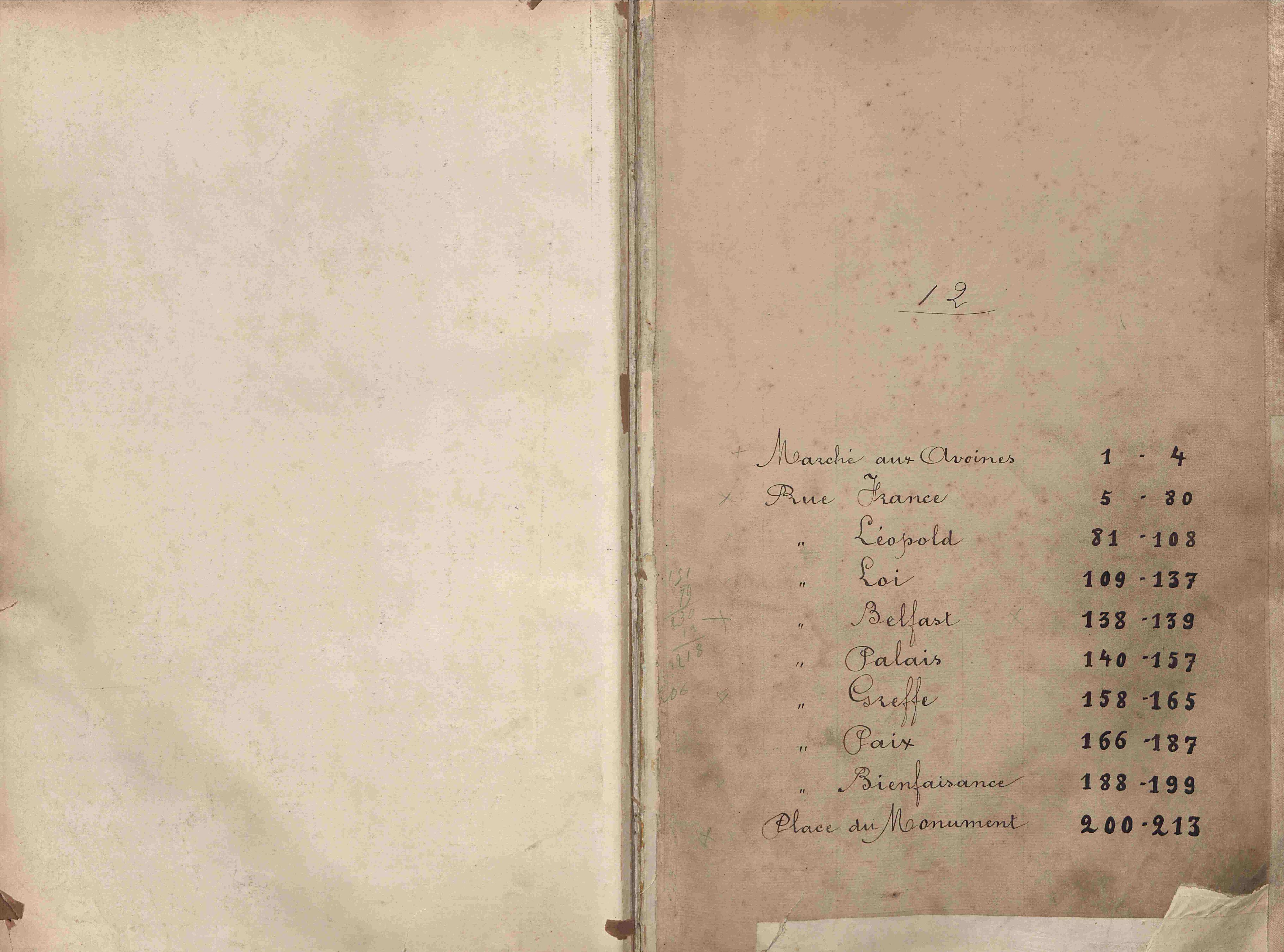 Bevolkingsregister Kortrijk 1890 boek 12