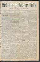 Het Kortrijksche Volk 1911-03-05 p1