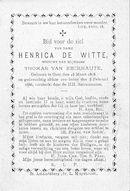 Henrica De Witte