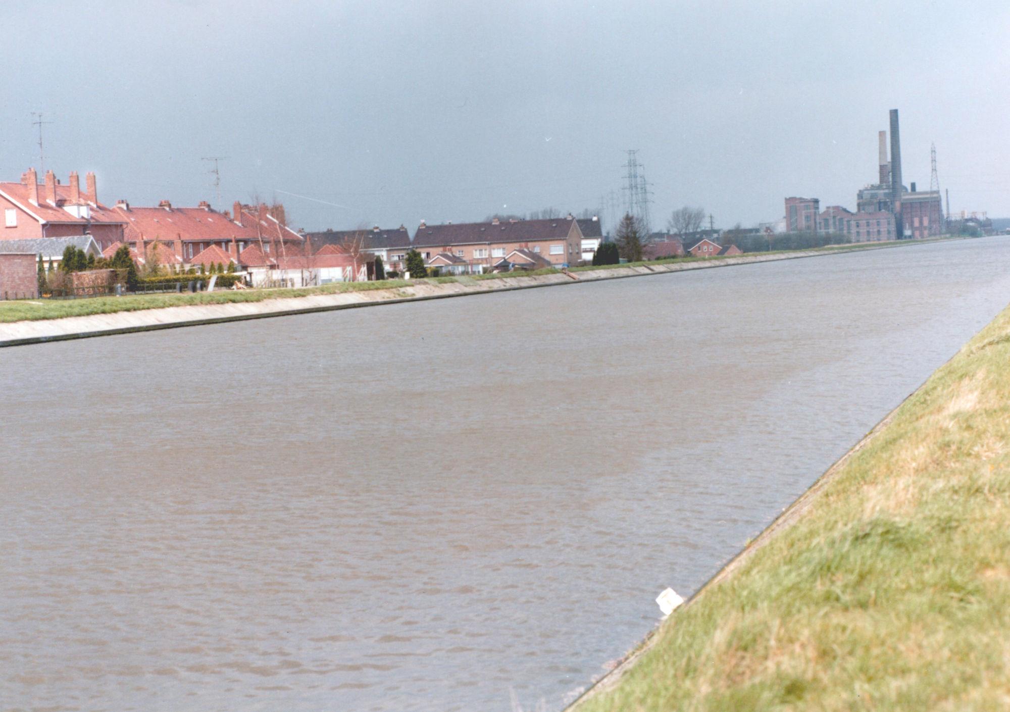 Kanaal Bossuit-Kortrijk in Zwevegem-Knokke 1981