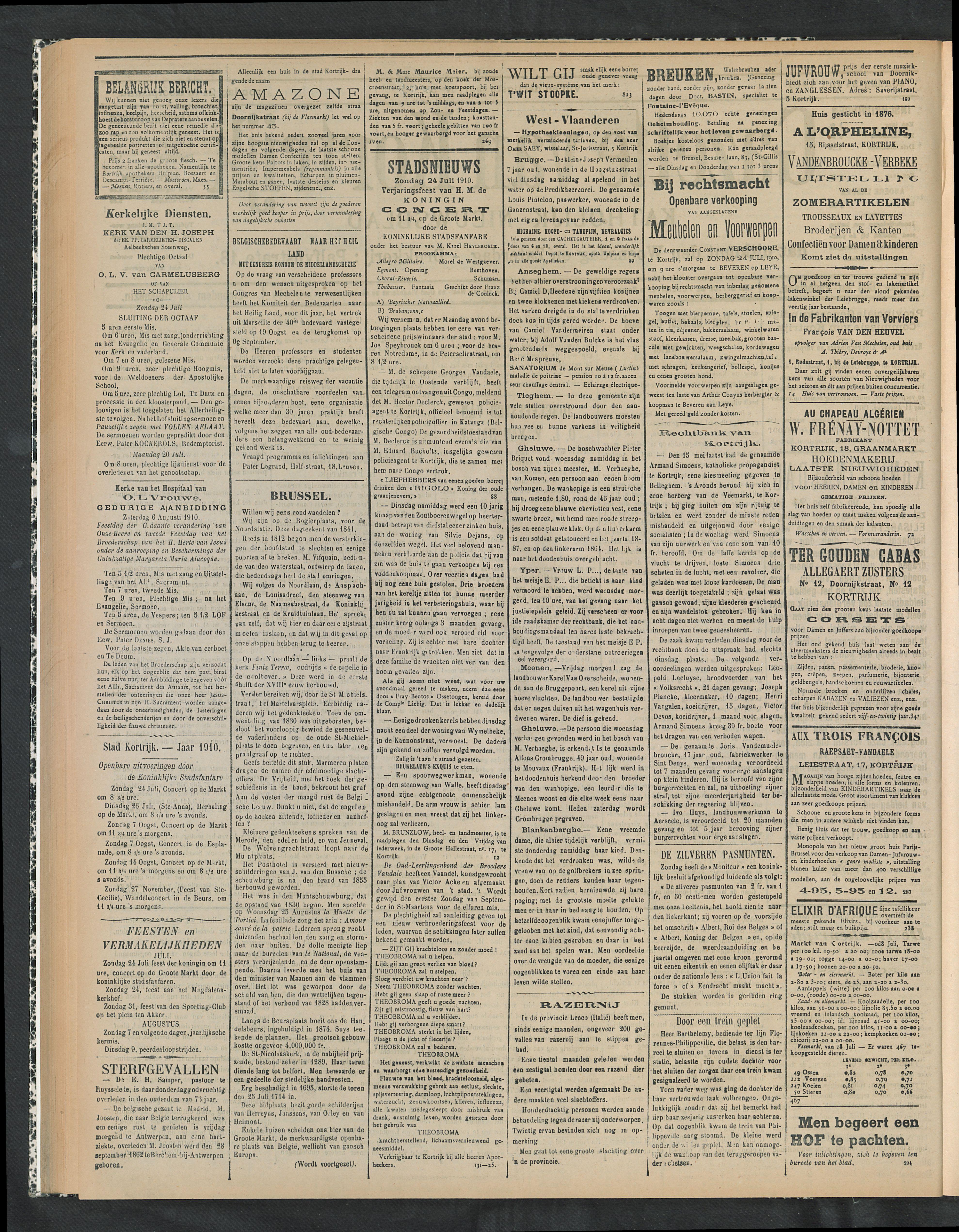 Gazette Van Kortrijk 1910-07-24 p2