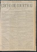 L'echo De Courtrai 1884-12-28