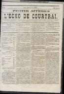 L'echo De Courtrai 1873-01-23 p1