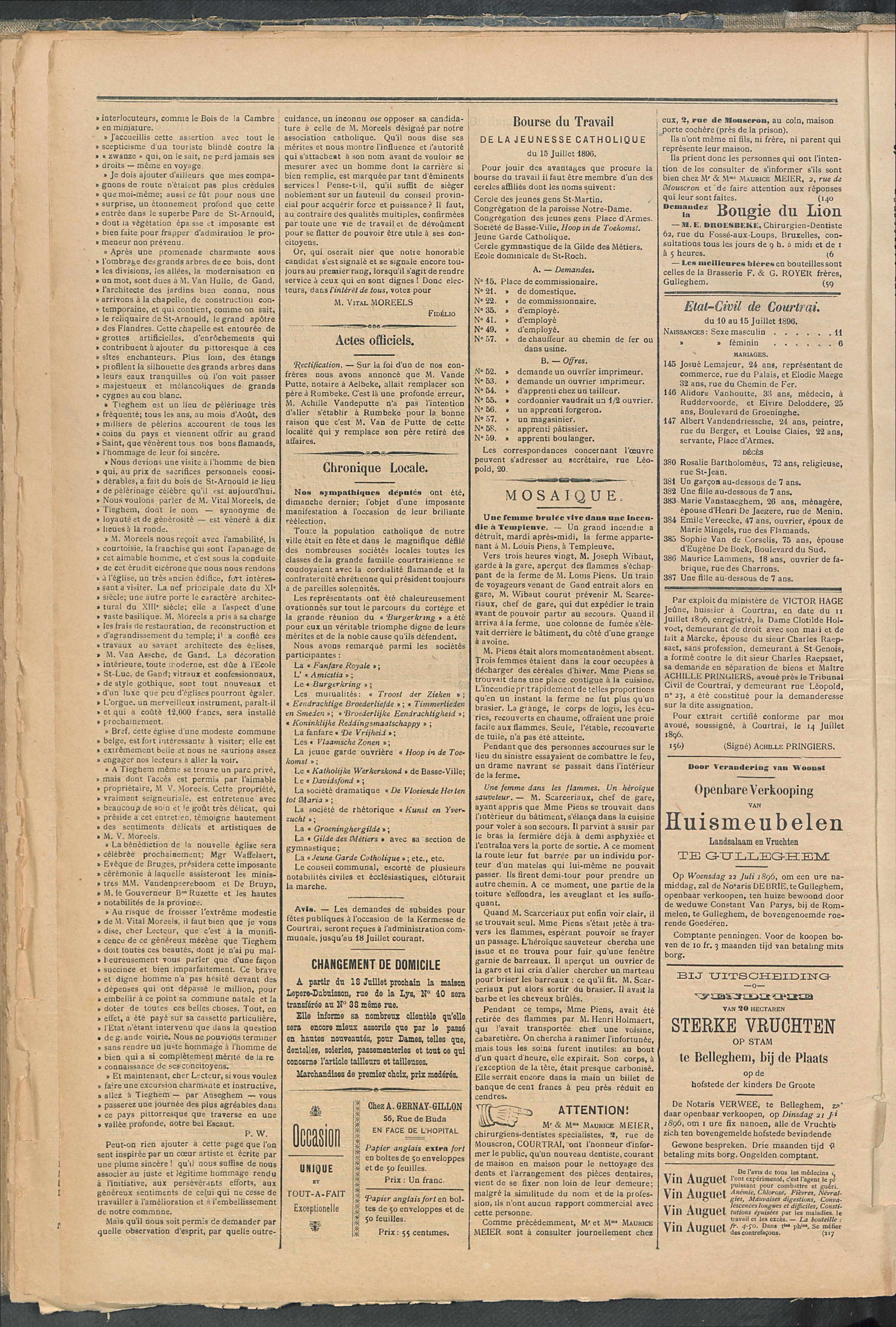 L'echo De Courtrai 1896-07-16 p2