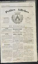 Petites Affiches De Courtrai 1835-12-27 p1