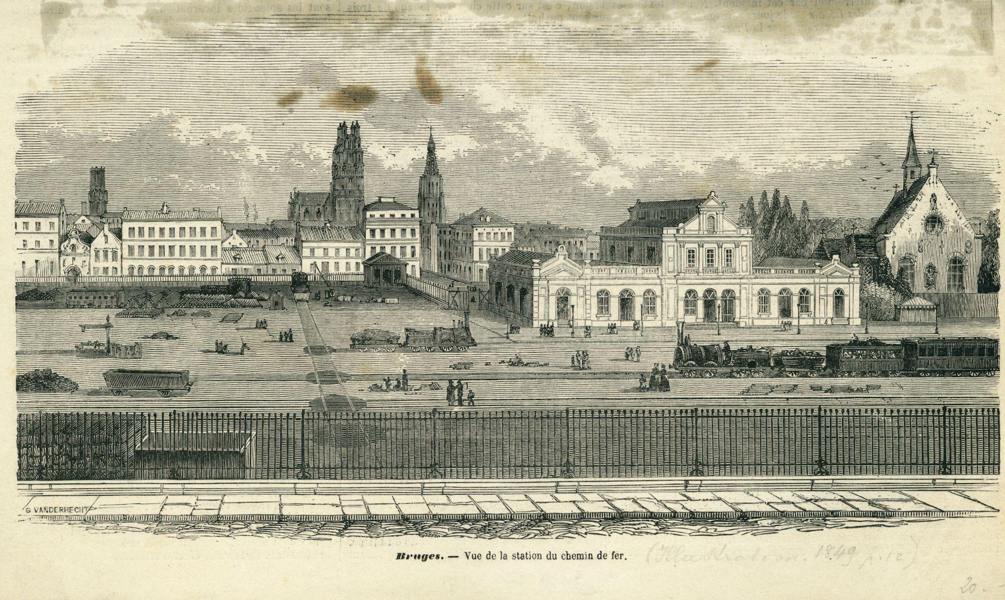 Westflandrica- het eerste station van Brugge