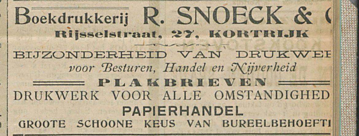 Boekdrukkerij R. SNOECK & Cie