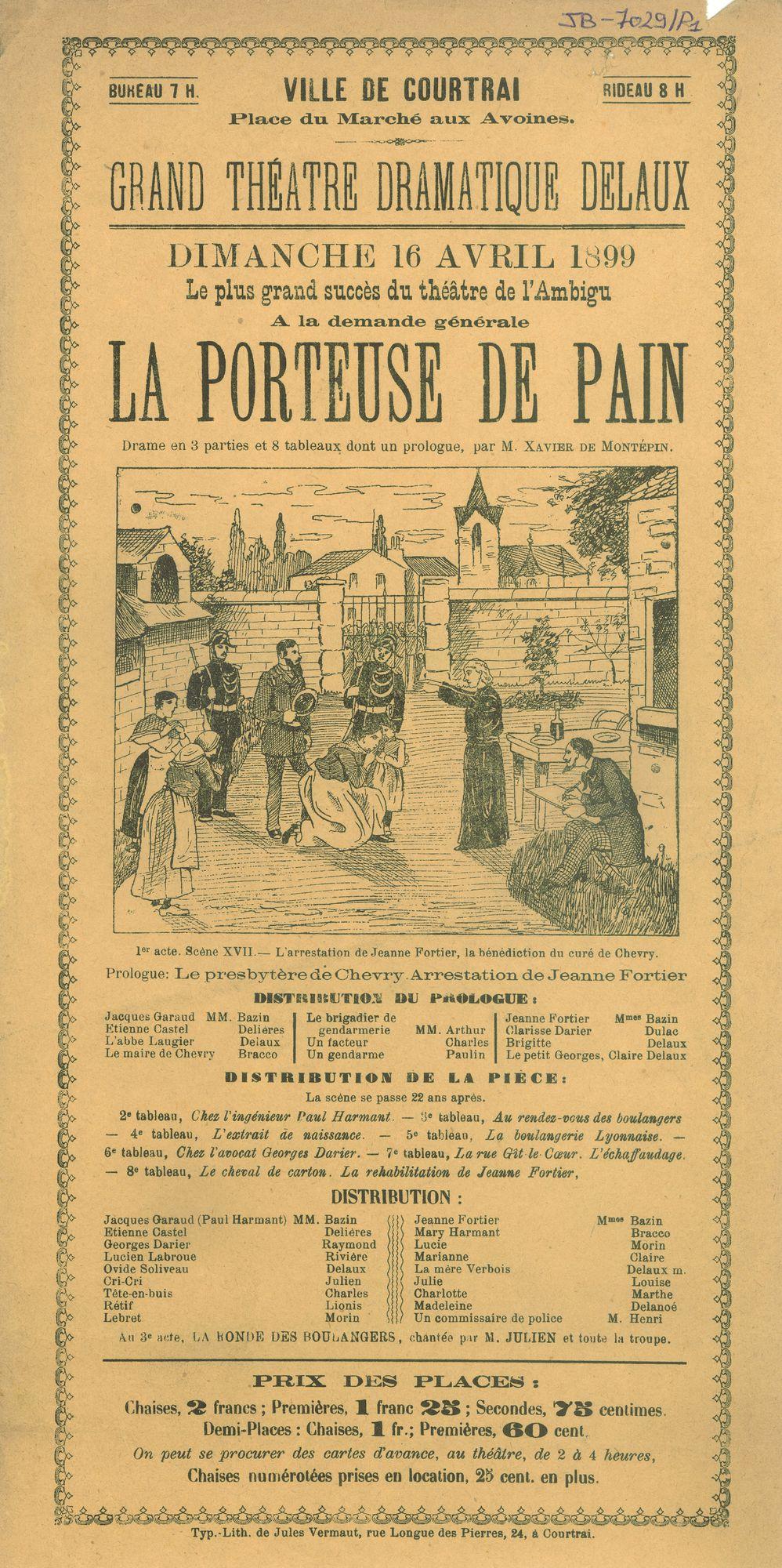 Paasfoor 1899: Theater van Delaux