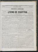 L'echo De Courtrai 1865-08-30