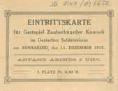Ingangskaart toneel 1915