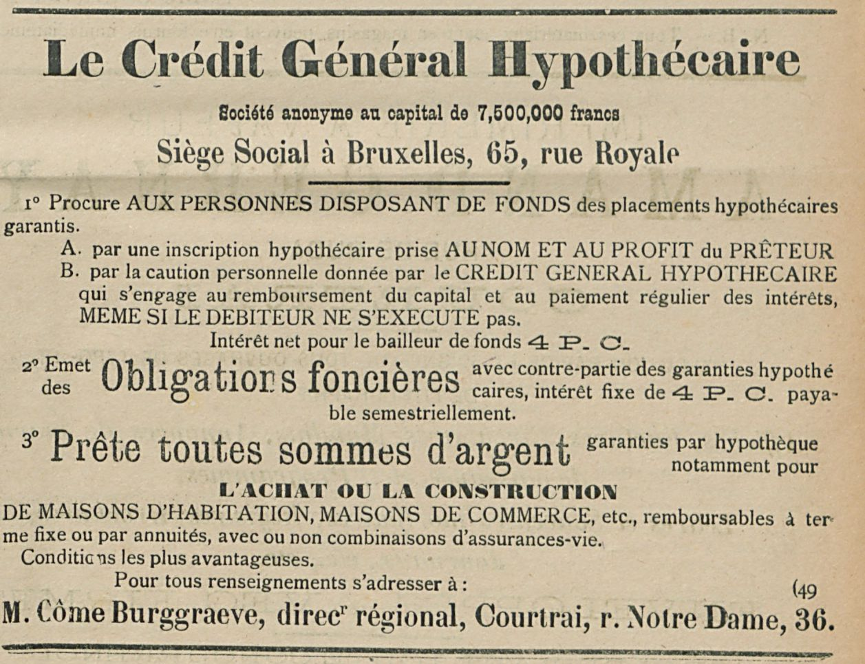 Le Credit General Hypothecate