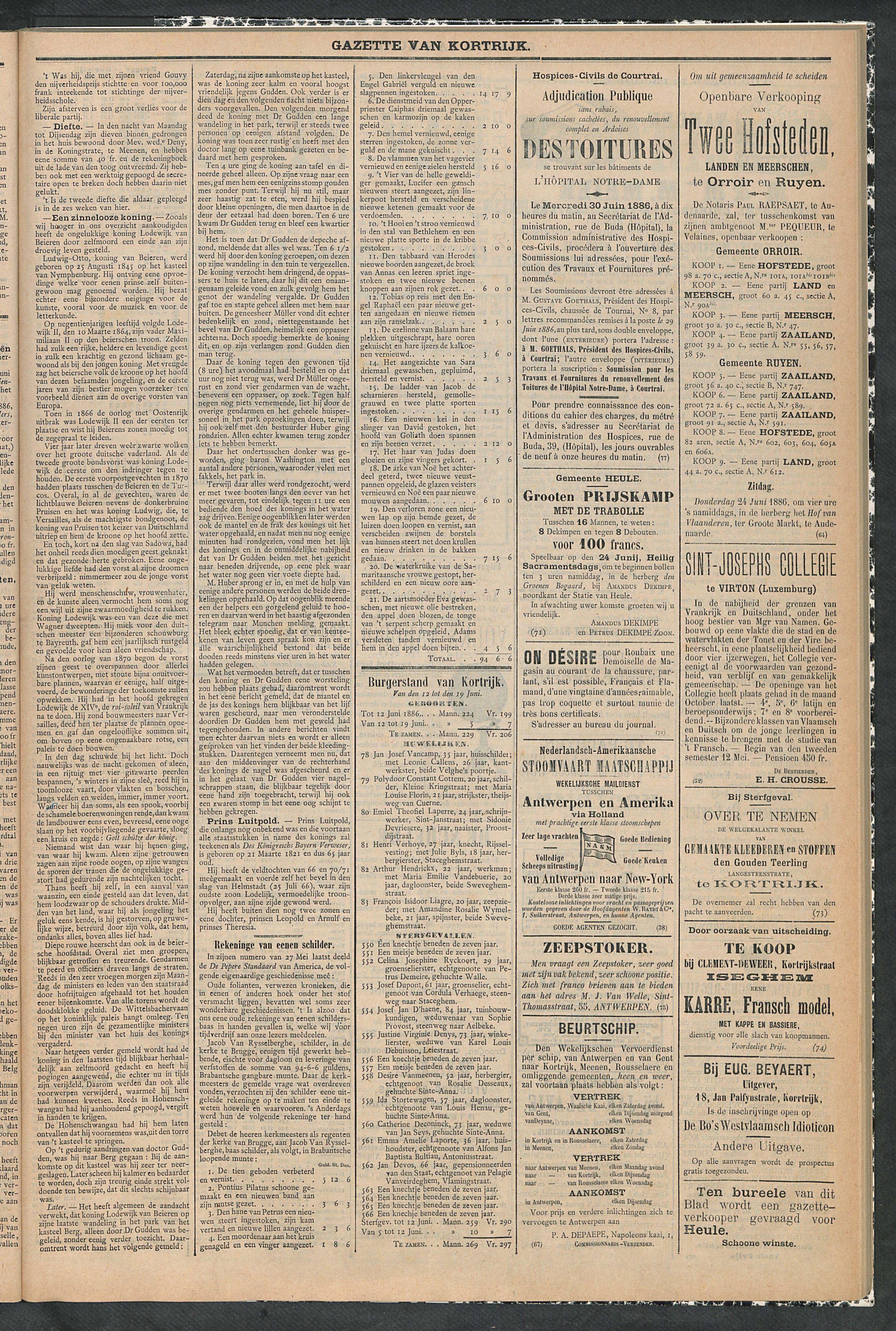 Gazette Van Kortrijk 1886-06-19 p3