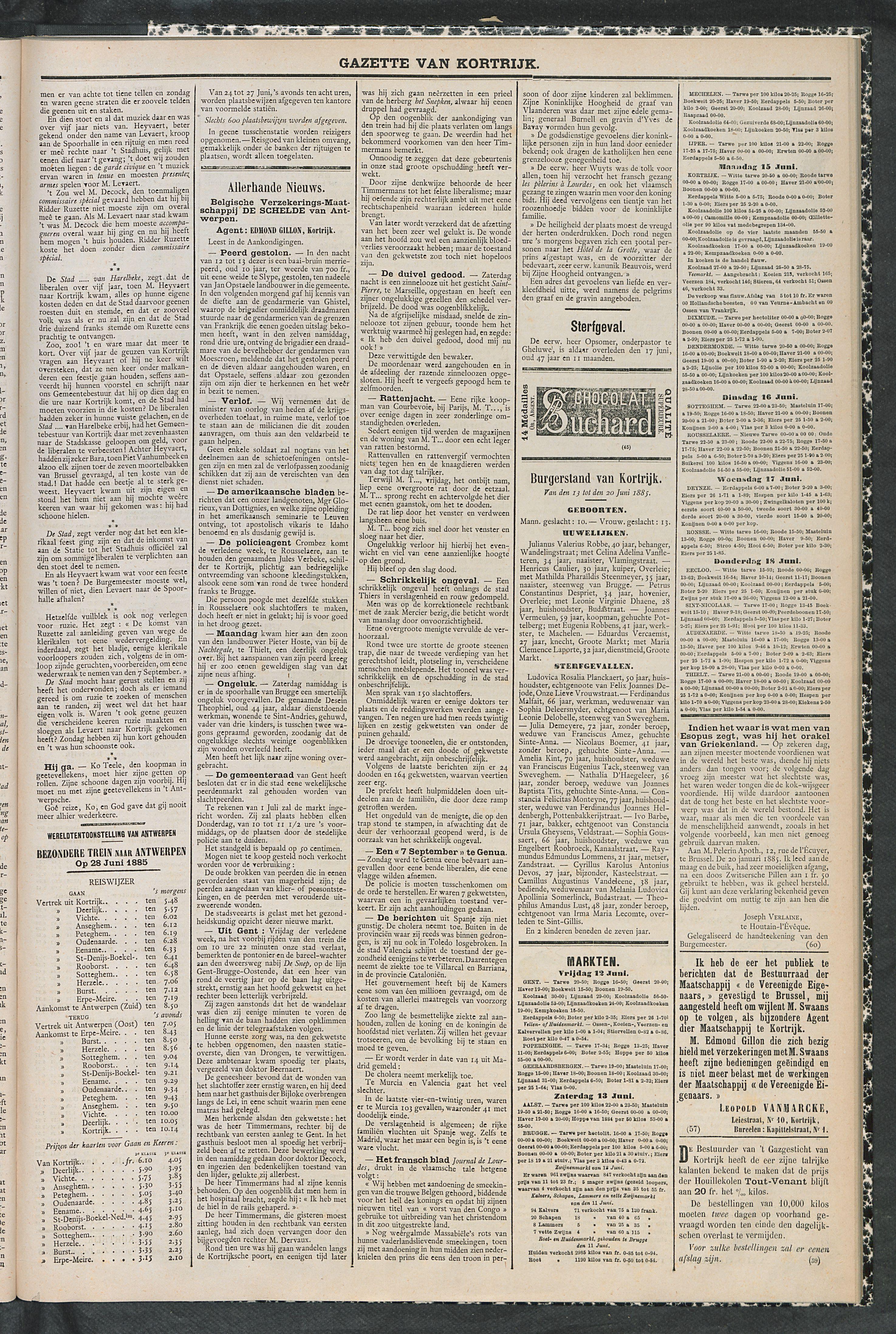 Gazette Van Kortrijk 1885-06-20 p3