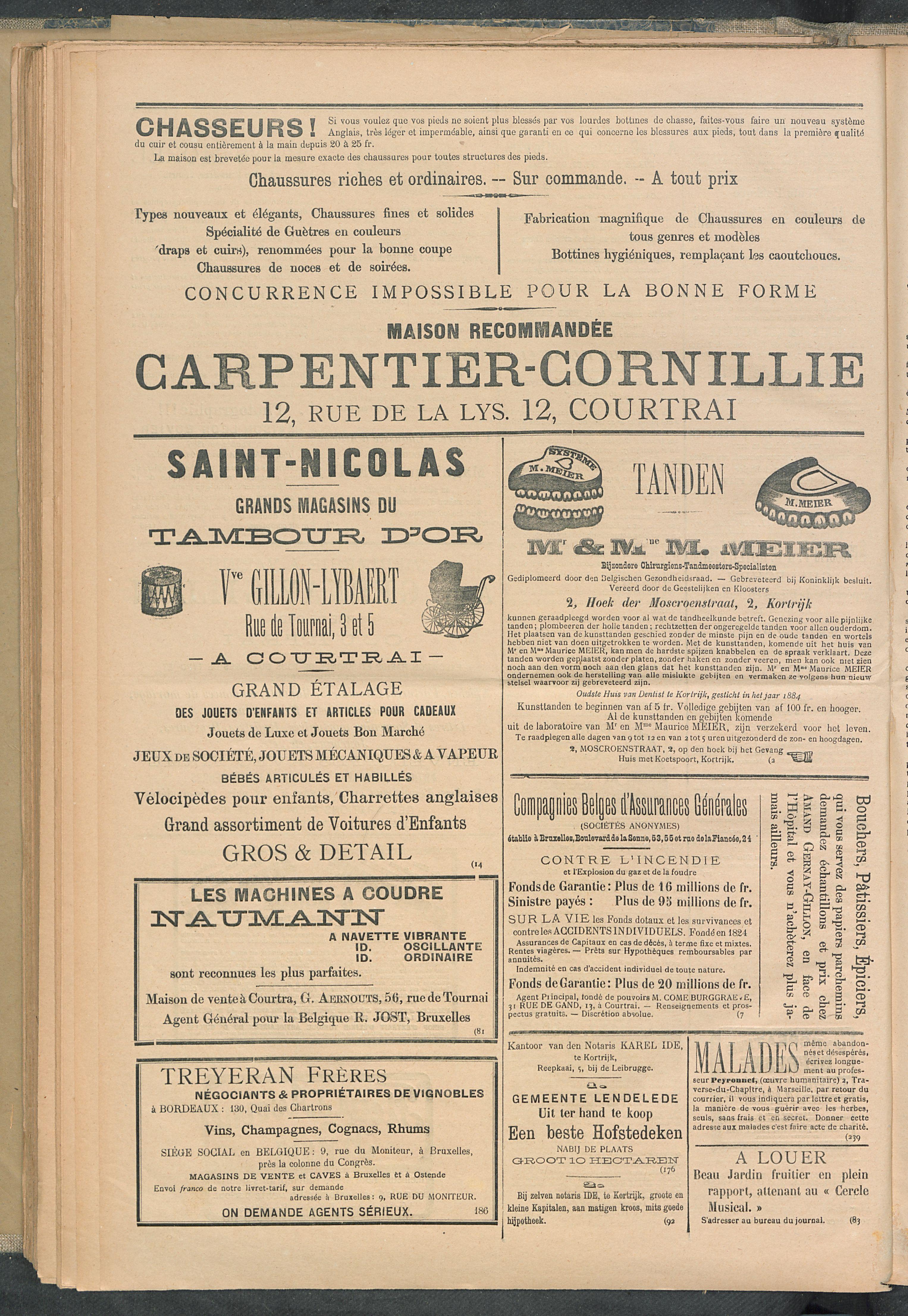 L'echo De Courtrai 1897-11-25 p4