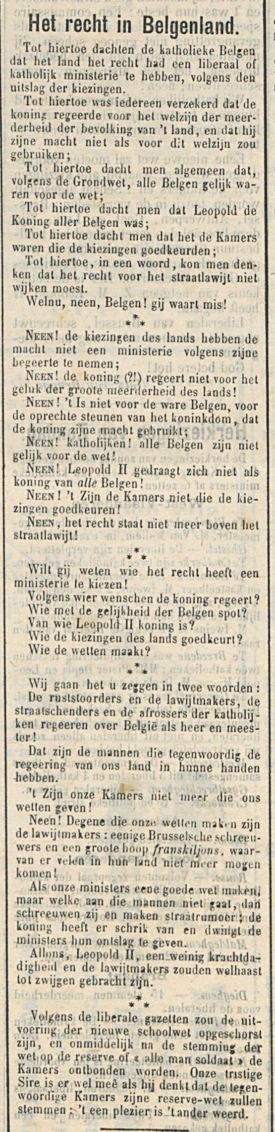 Het recht in Belgenland