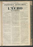 L'echo De Courtrai 1849-07-08