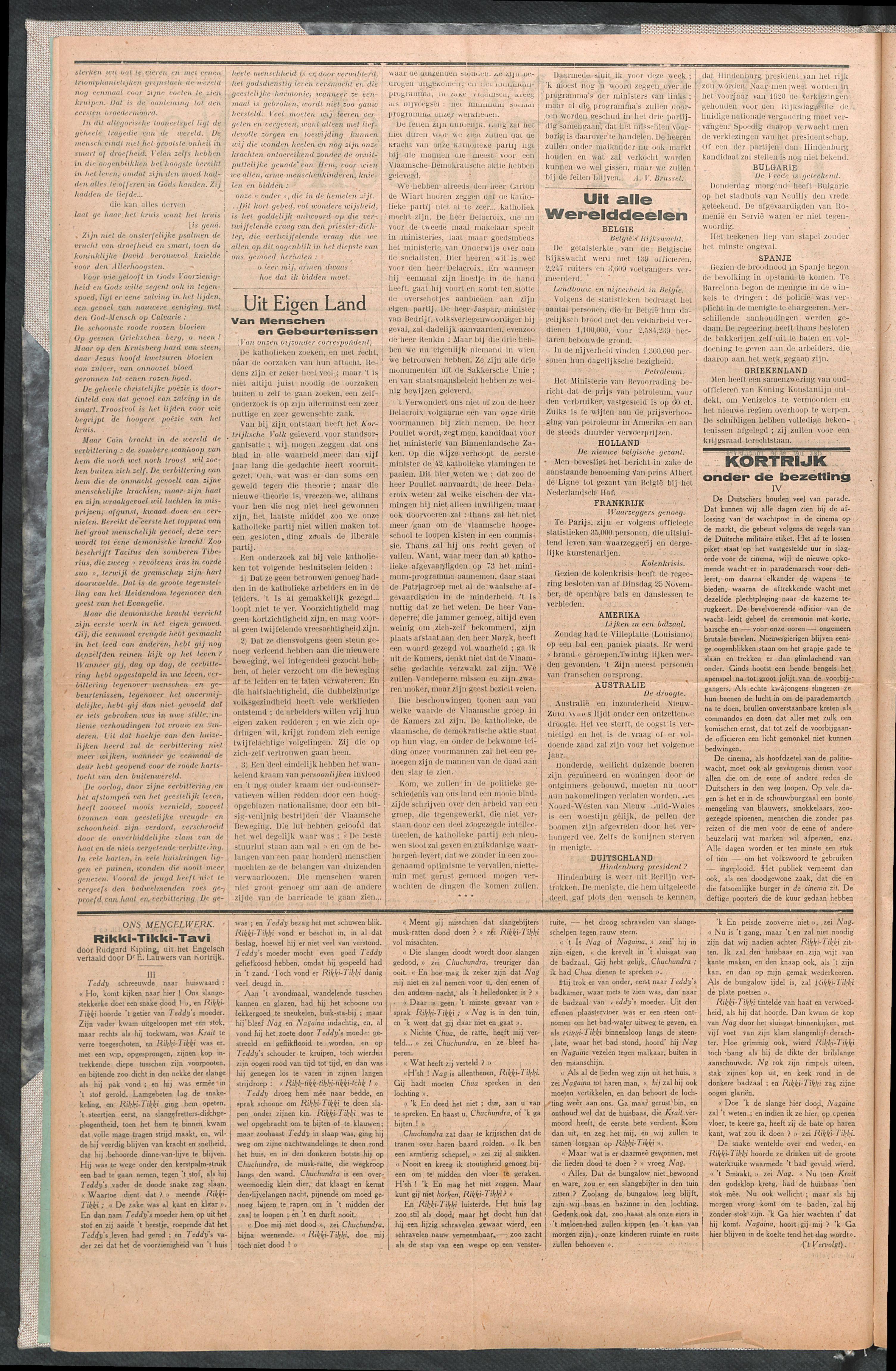 Het Kortrijksche Volk 1919-11-30 p2
