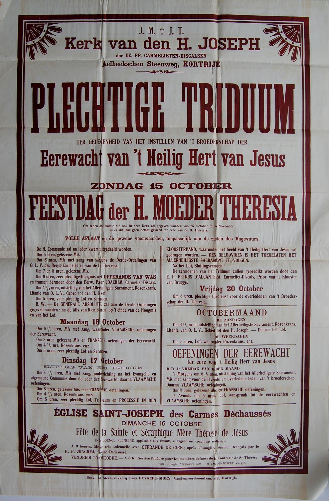 Plechtigheden Sint Jozefskerk